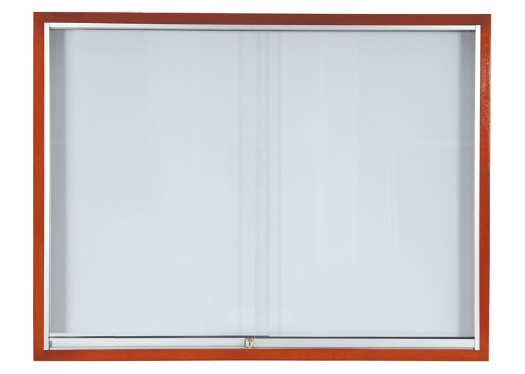 Sliding Glass Cabinet – Wooden Frame